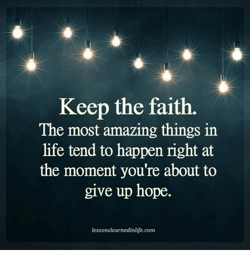 On Not Giving Up Hope
